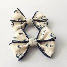 "4"" Anchor Hair Bows"
