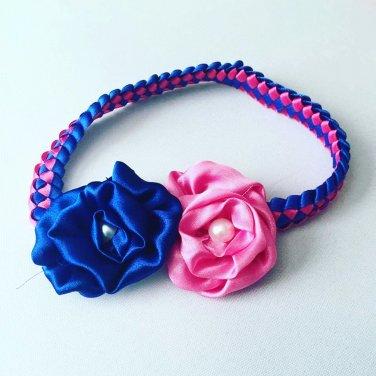 PINk & BLUE Braided Headband