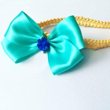 Baby Blue Bow   Headband
