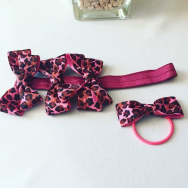 Bows on  Elastic Headband & Hair Tie