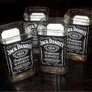 Jack Daniels Hand Cut Upcycled Glasses (x4)
