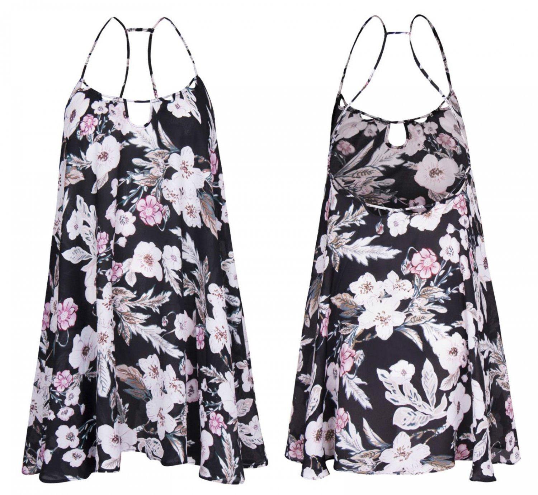 Women Floral Print Asymmetric Sumner Sleeveless Loose A Line Swing Dress UK(8-14)