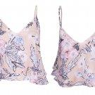 New Women V Neck Floral Print Summer Sleeveless Top Blouse Shirt UK Size 6