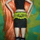 Sexy Black & Green Skirt - Pullip