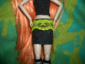 Sexy Black & Green Skirt - Pullip