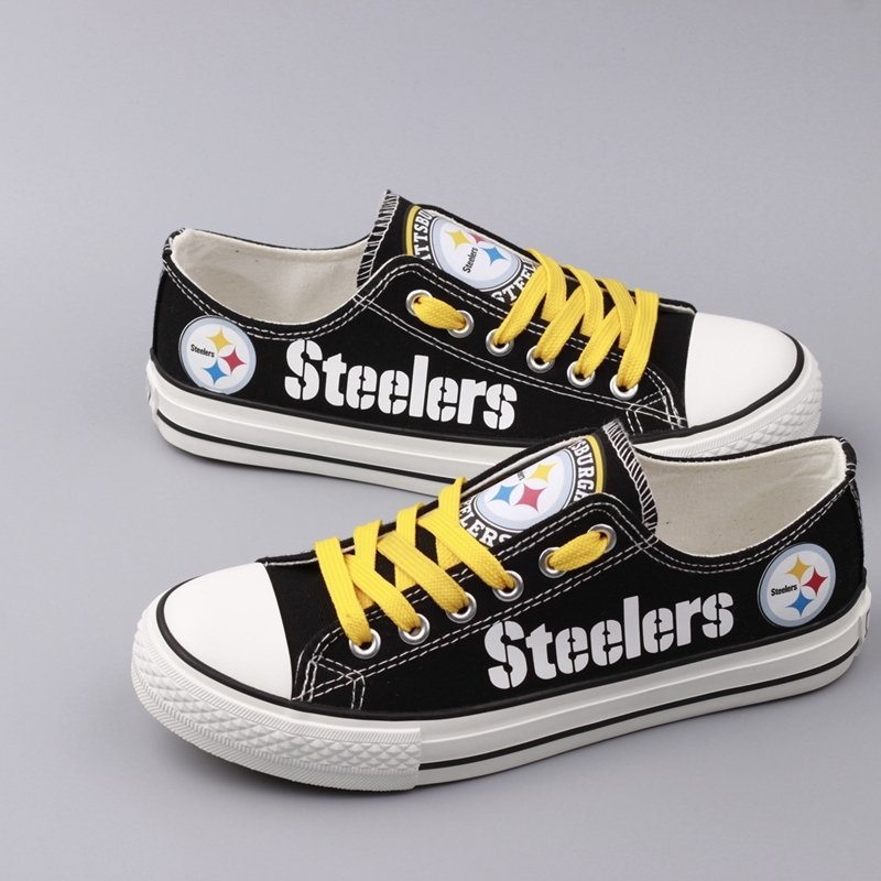 f832619490b ... to buy 56398 77cf9 Pittsburgh Steelers Shoes Men Women Gift Canvas Sneakers  Custom Gift Ideas ...