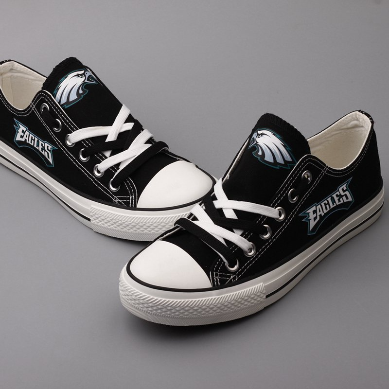 2174ca5ec3 Custom Philadelphia Eagles Football Shoes Graffiti Canvas Sneakers Black  Unique Gift Ideas