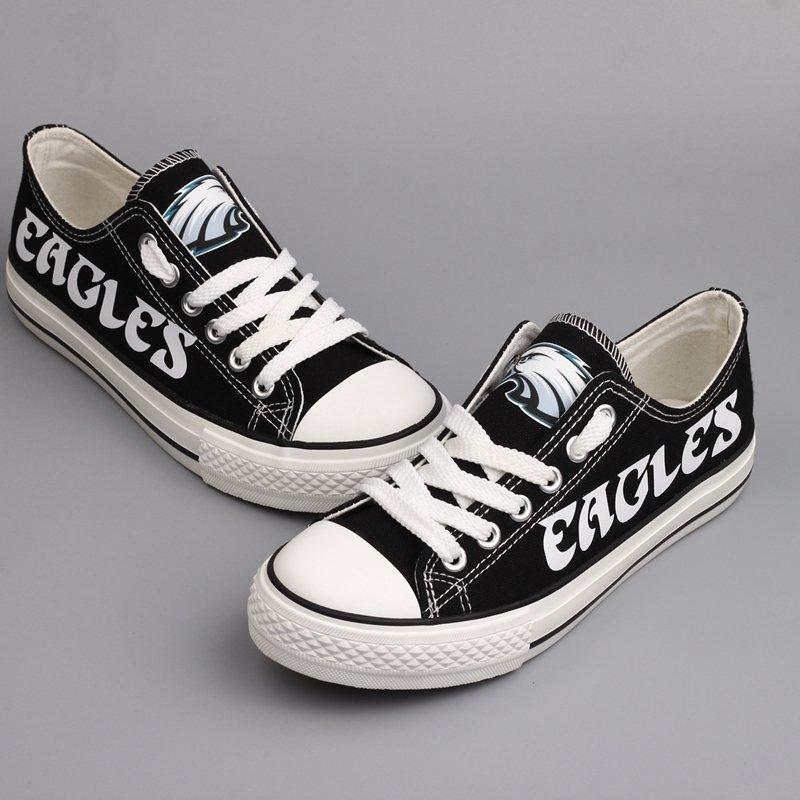 1bdf2c3e Philadelphia Eagles Shoes for Men Women Canvas Sneakers Black Birthday Gift