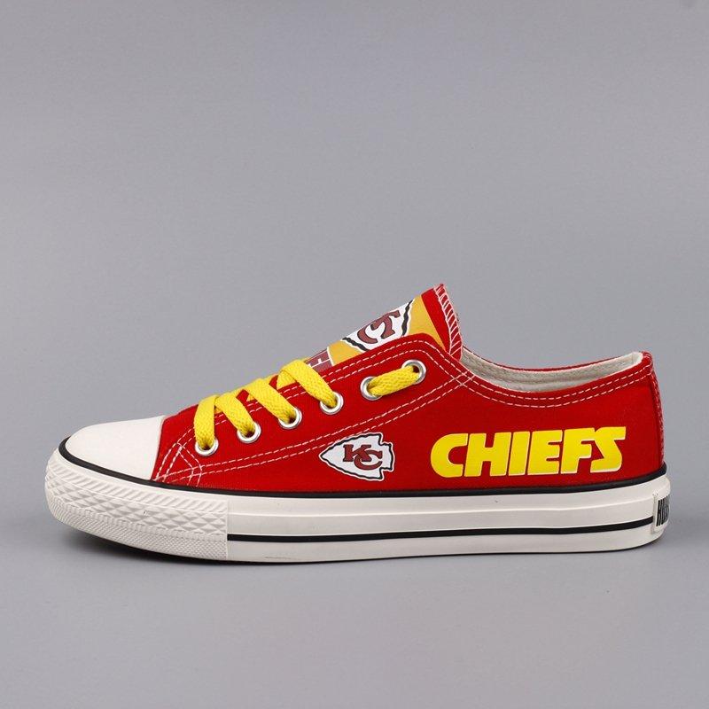 e3e13b54c20e Personalized Kansas City Chiefs Shoes Women Men Converse Sneakers Red Cool  Gift Idea
