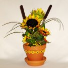 Sunflowers in Terra Cotta Pot
