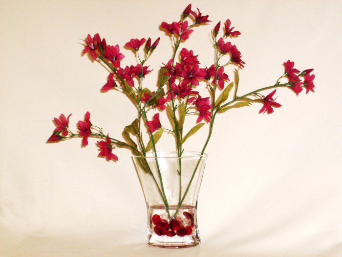 Silk Burgundy Cymbidium Orchid Spray