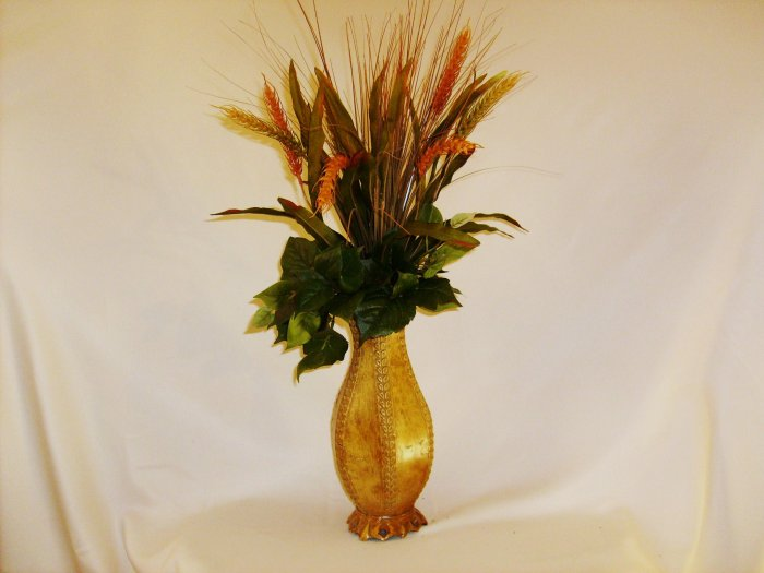 Wheat & Ivy Floral Arrangement