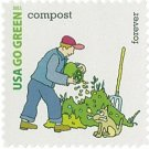 USPS SHEET of 20 USA Go Green Compost First Class Postage Forever Stamps Booklet