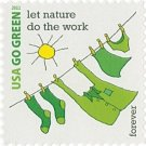 USPS SHEET of 20 USA Go Green Let Nature Do The Work First Class Postage Forever Stamps Booklet