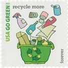 USPS SHEET of 20 USA Go Green Recycle More First Class Postage Forever Stamps Booklet