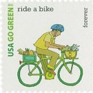 USPS SHEET of 20 USA Go Green Ride A Bike First Class Postage Forever Stamps Booklet