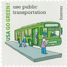 USPS SHEET of 20 USA Go Green Use Public Transportation First Class Postage Forever Stamps Booklet