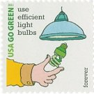 USPS SHEET of 20 USA Go Green Use Efficient Light Bulbs First Class Postage Forever Stamps Booklet