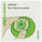 USPS SHEET of 20 USA Go Green Adjust The Thermostat First Class Postage Forever Stamps Booklet
