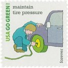 USPS SHEET of 20 USA Go Green Maintain Tire Pressure First Class Postage Forever Stamps Booklet