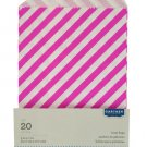Pink Striped Paper Treat Bags