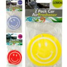 Smiley Face Car Air Freshener Set