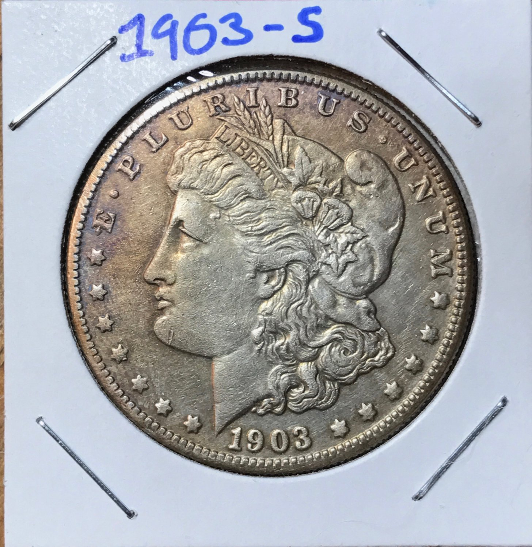 1903-S AU Morgan Silver Dollar $1