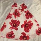 Gap Kids Girls Dress Size XL 12 Red Floral & White Sundress Cotton Adj Straps