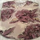 LC LAUREN CONRAD Sleeveless V-neck Purple Floral Print Top Sz XL Pretty!