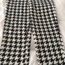 NEW Women's Geometric Print Pajama Pants Sz 2X 18W/20W White/Black Snuggly Soft