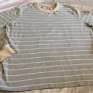 Mossimo Brand Men's Long Sleeve Blue & White Striped Henley Sz XL