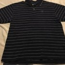 IZOD Men's Blue & White Striped Short Sleeve Polo Sz XL Free Shipping