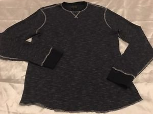 New HELIX Brand Older Boys Long Sleeve Henley Shirt Dark Blue Sz XL