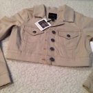 New JESSICA SIMPSON Cropped Beige Tan Jacket Juniors Sz Medium Hot! $69