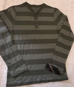 New HELIX Boys Green Striped Long Sleeve Shirt Sz XL  Msrp $24 Free Shipping