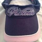 Women's Princess Visor Hat Navy Blue & Pink 100% Cotton Free Shipping