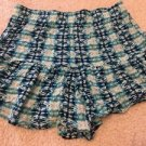Aeropostale Women's Blue Geometric Print Shorts Sz Small Cute! Free Shipping