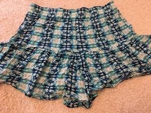 Aeropostale Women's Blue Geometric Print Shorts Sz Small Cute! Free Shipping