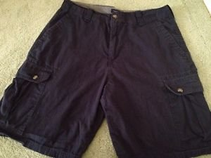 CLUB ROOM Brand Men's Navy Blue Cargo Shorts Size 32 Nice! Free Shipping