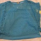 "New ""SPEECHLESS"" Brand Two Piece Top w/ Lace Overlay Girls Sz XL Caribbean Blue"