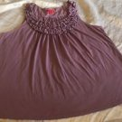 ELLE Brand Purple Tank Top Sz 1X Gorgeous, Lovely Quality Pima Cotton
