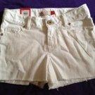 New SO Brand White Frayed Shorts Girls Size 10 Adjustable Waist Cute!