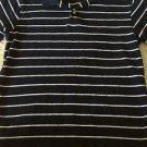 New OLD NAVY Brand Older Boys Polo Dark Blue w/ White Stripes Short Sleeve Sz XL