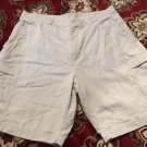 Kirkland Signature Mens Cream Khaki Cargo Shorts Sz 36 Free Shipping