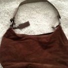 Tommy Hilfiger Brown Faux Suede Hobo Purse Cute! Free Shipping