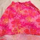 SO Brand Pink Skirt High/low Pretty Flower Design Sz Medium 10-12 Elastic Waist