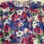 New CATHY DANIELS Short Sleeve Spring Summer Floral Multicolor Breezy Top 1X $48