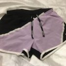NIKE Dri Fit Running Shorts Sz XS Purple & Black Free Shipping