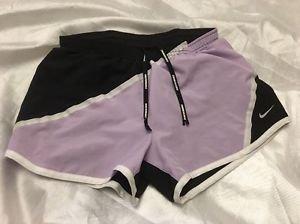 NIKE Dri Fit Running Shorts Sz XS Purple & Black Free Shipping