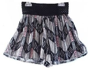NEW Living Doll Brand Black & Pink Pull-On Casual Shorts Juniors XS *$30* Cute!
